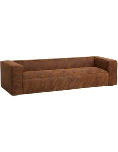 Canapé 4 places moderne cuir BELMUNGING - par J-Line
