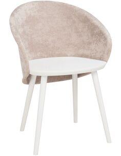 Chaise penez bois/textile naturel/beige Fauteuils J-Line