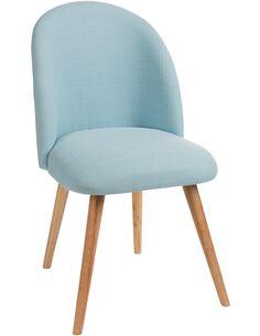 Chaise vincent tissu bleu BENJEROOP - par J-Line