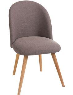 Chaise vincent textile/bois greige Chaises de cuisine et salle à manger J-Line