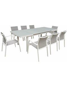 Table de jardin extensible NICE aluminium  - par Delorm