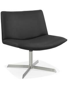 Chaise design Simili cuir Noir KORSA Chaises de cuisine et salle à manger Kokoon Design