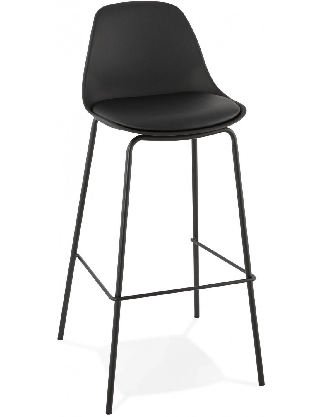 Tabouret De Bar Design Polymère Noir Escal à 7116 Chez Recollection