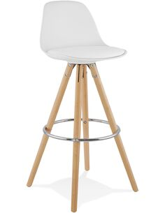 Tabouret de bar design Polymère Blanc ANAU Chaises de bar Kokoon Design