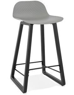 Tabouret de bar design Polymère Gris MIKY MINI Chaises de bar Kokoon Design