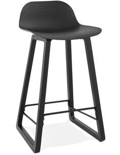 Tabouret de bar design Polymère Noir MIKY MINI Chaises de bar Kokoon Design