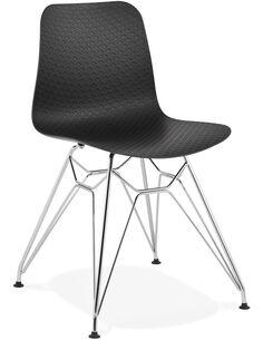 Chaise design Polymère Noir FIFI Chaises de cuisine et salle à manger Kokoon Design