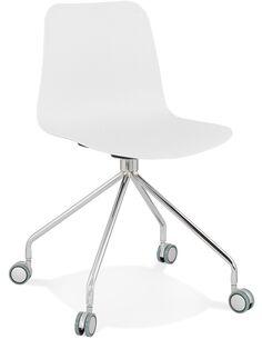 Chaise design Polymère Blanc RULLE Chaises de cuisine et salle à manger Kokoon Design