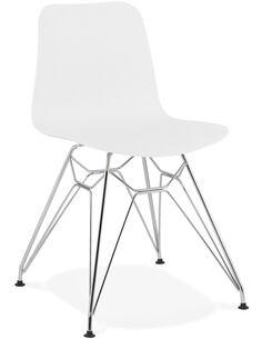 Chaise design Polymère Blanc FIFI Chaises de cuisine et salle à manger Kokoon Design