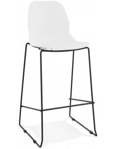 Tabouret de bar design Polymère Blanc ZIGGY Chaises de bar Kokoon Design