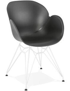 Fauteuil design Polymère Noir PROVOC Fauteuils Kokoon Design