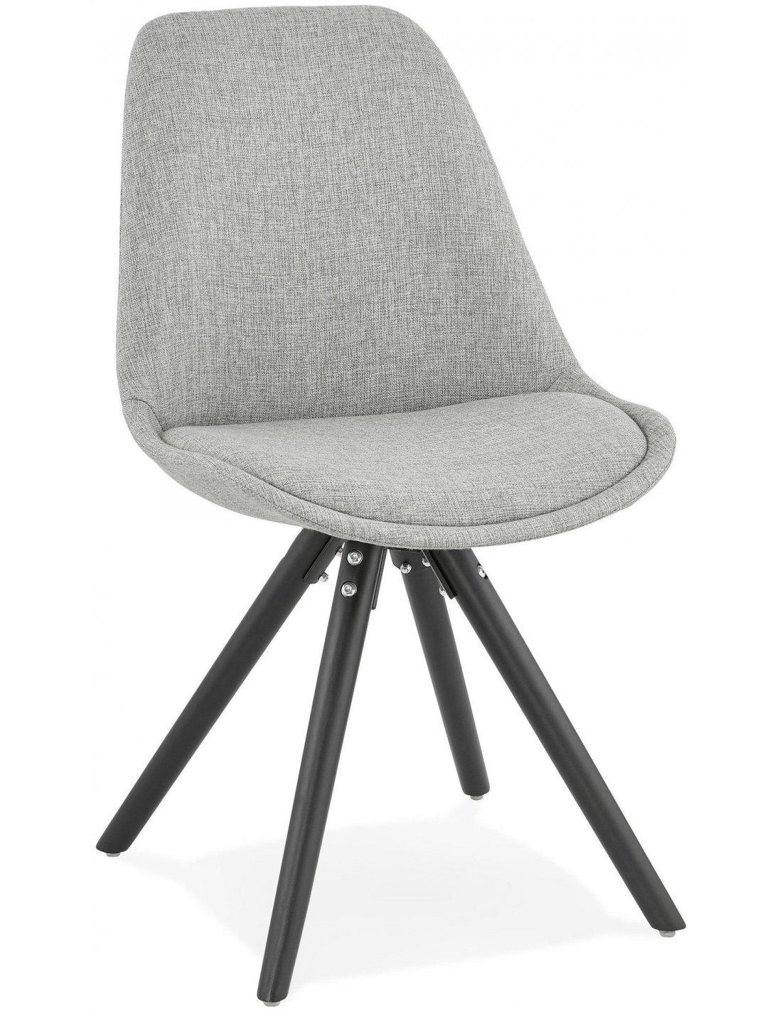 Chaise Design Textile Gris BRASA Chaises De Cuisine Et Salle Manger Kokoon