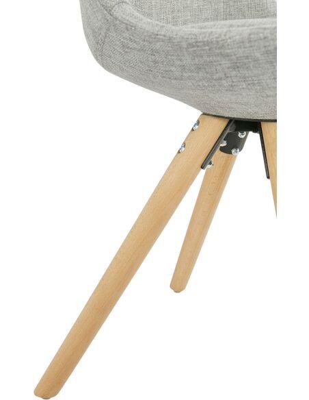 Chaise design Textile Gris BRASA Chaises de cuisine et salle à manger  Kokoon Design befe371ffb33
