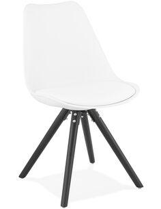 Chaise design Simili cuir Blanc MOMO Chaises de cuisine et salle à manger Kokoon Design