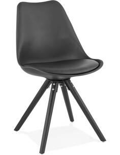 Chaise design Simili cuir Noir MOMO Chaises de cuisine et salle à manger Kokoon Design