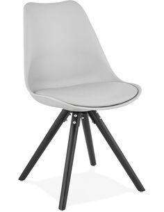 Chaise design Simili cuir Gris MOMO Chaises de cuisine et salle à manger Kokoon Design