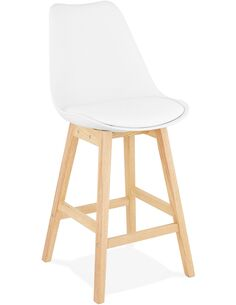 Tabouret de bar design Simili cuir Blanc APRIL MINI Chaises de bar Kokoon Design