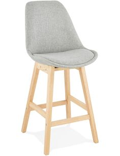 Tabouret de bar design Textile Gris QOOP MINI Chaises de bar Kokoon Design