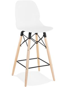 Tabouret de bar design Polymère Blanc MARCEL MINI Chaises de bar Kokoon Design