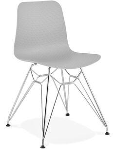 Chaise design Polymère Gris FIFI Chaises de cuisine et salle à manger Kokoon Design