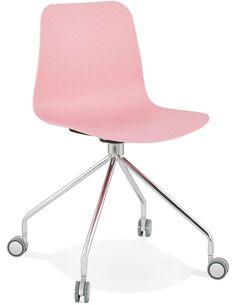 Chaise design Polymère Rose RULLE Chaises de cuisine et salle à manger Kokoon Design