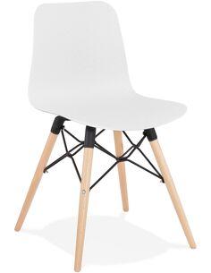 Chaise design Polymère Blanc GINTO Chaises de cuisine et salle à manger Kokoon Design