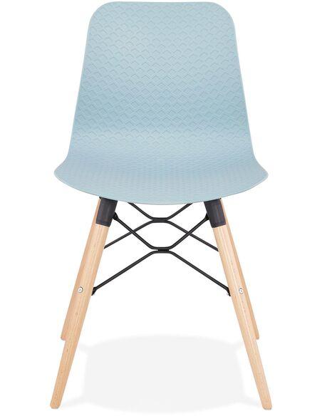 Chaise design Polymère Bleu GINTO Chaises de cuisine et salle à manger Kokoon Design