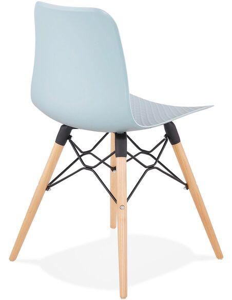 Chaise Design Polymre Bleu GINTO Chaises De Cuisine Et Salle Manger Kokoon