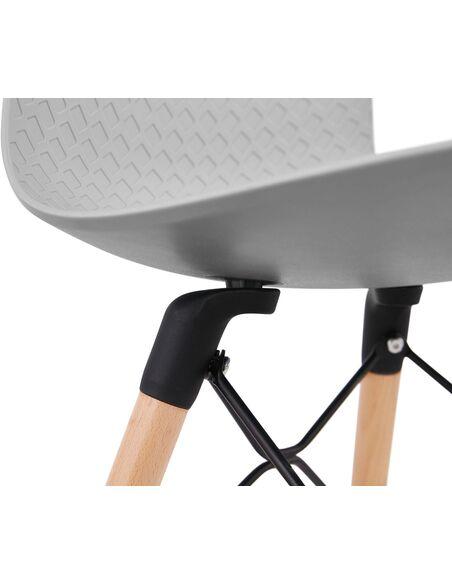 Chaise design Polymère Gris GINTO Chaises de cuisine et salle à manger Kokoon Design