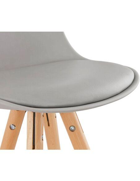 Tabouret de bar design Polymère Gris ANAU Chaises de bar Kokoon Design