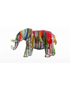 Sculpture ELEPHANT 120 Multicolore  - par Arte Espina