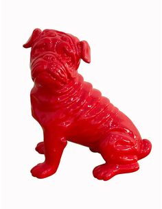 Sculpture BULLDOG 120 Rouge - par Arte Espina