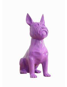 Sculpture TERRIER II 21-J Violet - par Arte Espina