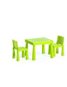 x2 chaises + table LES ENFANTS ASSIS HANNAH Citron - par Arte Espina