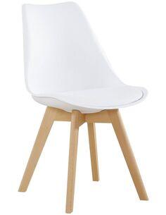 x4 chaises COLLÈGE 110 Blanc - par Arte Espina