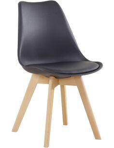 x4 chaises COLLÈGE 110 Noir - par Arte Espina