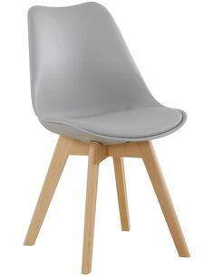 x4 chaises COLLÈGE 110 Gris - par Arte Espina