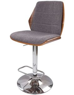 Connor gris 160 Barstool Chaises de bar Arte Espina