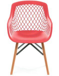 Lot de 2 Chaise Pure Style Rouge Chaises de cuisine et salle à manger Arte Espina