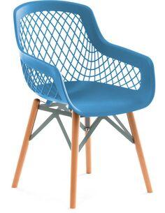 Lot de 4 Chaise Pure Style Bleu Chaises de cuisine et salle à manger Arte Espina