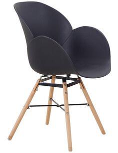 x4 chaises AMALIA 110 Noir - par Arte Espina
