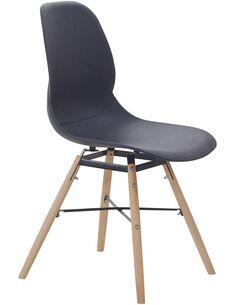 x4 chaises AMY 110 Noir - par Arte Espina
