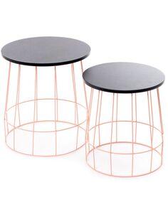 x2 Tables TOWERBLOCK Rose Noir - par Arte Espina