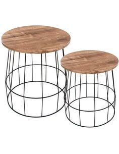 x2 Tables Noir BOIS TOWERBLOCK - par Arte Espina