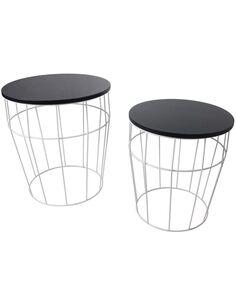 x2 Tables TOWERBLOCK Blanc Noir - par Arte Espina