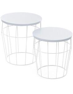 x2 Tables TOWERBLOCK Blanc Blanc - par Arte Espina
