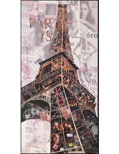 Tableau peint Patchwork TOUR EIFFEL I  - par Arte Espina