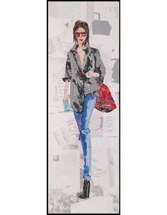 Tableau peint Patchwork PISTE I  - par Arte Espina