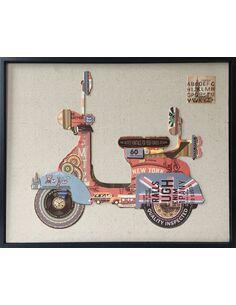 Tableau peint PAPIER SCOOTERS  - par Arte Espina