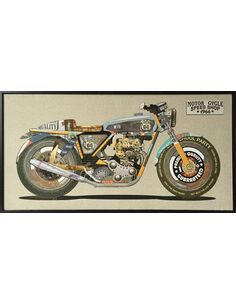 Tableau peint Patchwork MOTO II  - par Arte Espina